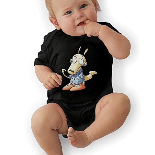 FAMURR Girl's&Boy's Baby Rocko's Modern Life Cotton Crew Neck Short Sleeve Shirts Tops Black