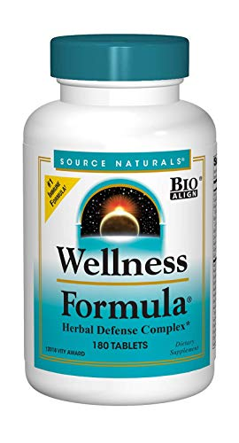 Source Naturals Wellness Formula Bio-Aligned Vitamins & Herbal Defense - Immune System Support Supplement & Immunity Booster - 180 Tablets ()
