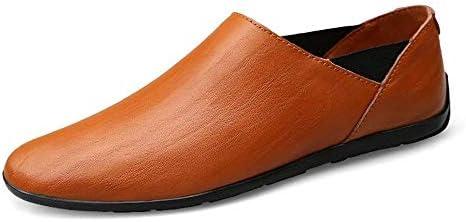 HhGold Mocasines para Hombre Zapatos, Minimalismo para Hombre Mocasines sin Cordones PU Cuero Moda Conducción Mocasines para Barcos Mocasines Casuales ...