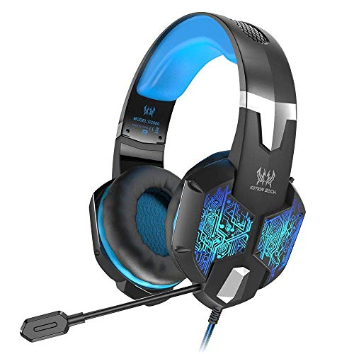 VersionTECH. Gaming Headset for Xbox One/PS4 Controller, PC, Wired Surround Sound Gaming Headphones with Noise Cancelling Mic, RGB LED Backlit for Nintendo Switch/3DS, Mac, Destop Computer Games (Best Versiontech Pc Headphones)