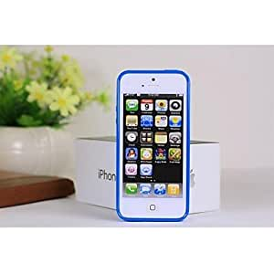 DUR Solid Color Full Body TPU Cases with Dustproof Plug for iPhone5/5S , B