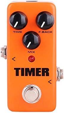 ギターエフェクト アナログディレイギターエフェクトペダルトゥルーバイパススーパーミニエレキギターエフェクトペダル柔軟な調整 より良い音楽を表示する (Color : Orange, Size : Free size)