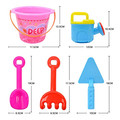 Gbell  Mini Beach Toys for Toddlers, Cartoon Beach Shovels Rakes Tool Kit , Watering Can, Animal Molds , Educational Sand Toys for Kids Boys Girls Outdoo R Toys , (Multicolor)