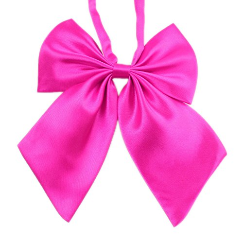 TopTie Women Pre-Tied Bow Ties Solid Color Bowknot Neckwear