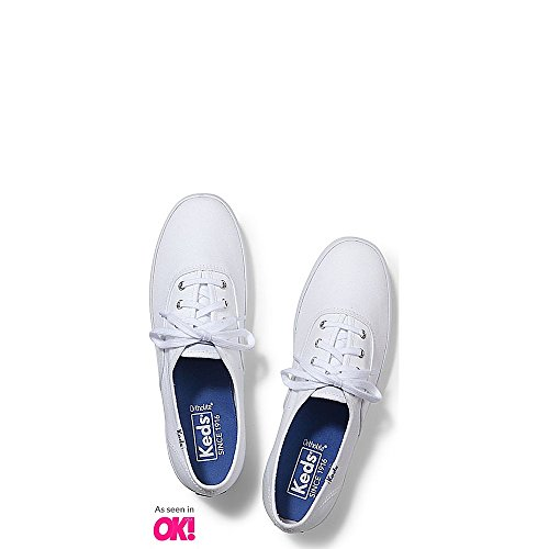 Keds Women's Champion Original Canvas Sneaker,White,9 W US