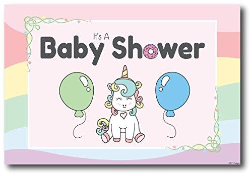 50 Unicorn Baby Shower Invitations Girl (Postcards, Envelopes Not Needed), Baby Shower Party Decorations Cards, Party Invitation for Girls, Baby Shower Supplies, Invitaciones Para Baby Shower Niña