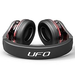 Bluedio U (UFO) Premium PPS 8 Drivers Bluetooth Wireless Headphone with Mic (Black and Red)