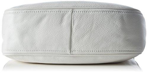 MICHAEL Michael Kors Heidi Medium Leather Shoulder Bag (Optic White)
