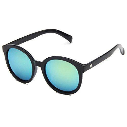 Sinkfish SG50010 Gift Sunglasses for Womens,Fashion - UV400/Black Frames/Green - Beach Long Sunglass Hut