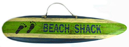 BEACH SHACK NAUTICAL RUSTIC TROPICAL ISLAND TIKI Surfboard -