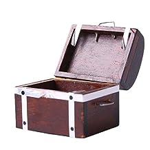 1/12 Scale Dolls House Miniature Treasure Chest Box w/ Handle Home Accessory