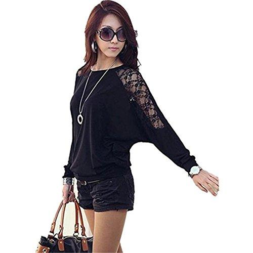 Batwing Sleeve Shirt,Hemlock Women Oversize Loose Blouse Tops (2XL, (Select Leather Furniture)
