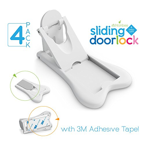 Sliding Door Lock for Child Safety - Baby Proof Doors & Closets. Childproof your Home with No Screws (Sliding Closet Mirrored Doors)