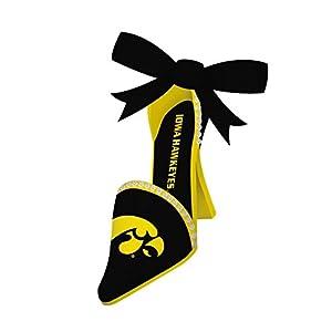 Evergreen NCAA Iowa Hawkeyes Ornament High Heeled Shoe Design, Team Color, One Size