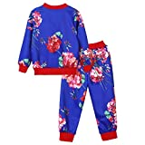 BURFLY ミミKids Baby Girls Boys Clothes Set Floral Print Zipper Tops Coat Pants Outfits