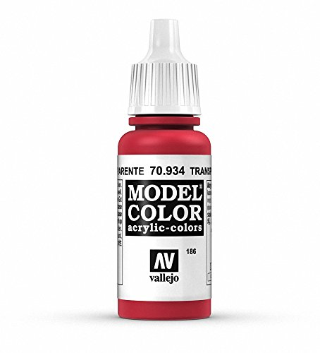 Vallejo Transparent Red Paint, - Red Transparent