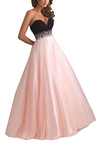 Chiffon kleid lang pink