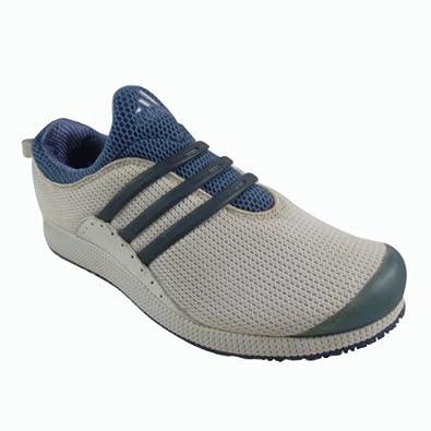 Mens Adidas Slip-On Footsock Running White Blue Fitness