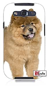 diy phone caseHappy Chow Chow Puppy Dog Animal Unique Quality Soft Rubber TPU Case for Samsung Galaxy S4 I9500 - White Casediy phone case