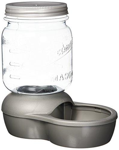 Petmate Replendish Feeder, 2 lb, Mason Silver Doskocil / Petmate Automatic Waterer