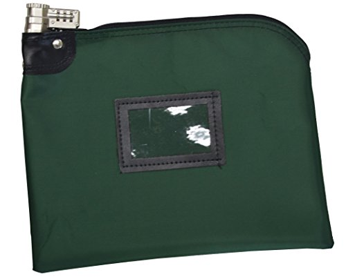 (Locking Money Bag Laminated Nylon Combination Keyed Security System Forest Green)