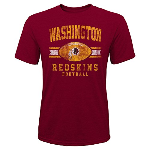 Outerstuff NFL NFL Washington Redskins Youth Boys Player Pride Short Sleeve Tri-Blend Tee Garnet, Youth X-Large(18)