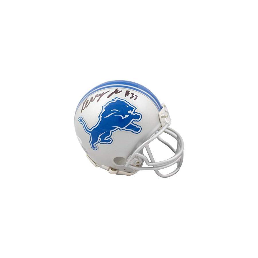 Kerryon Johnson Autographed Detroit Lions Mini Football Helmet JSA COA