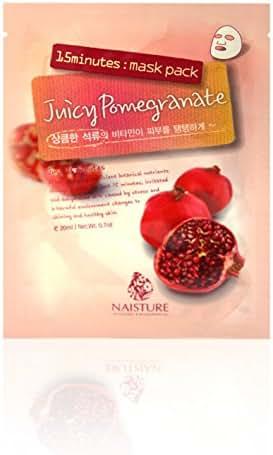 Naisture 15 Min. Collagen Essence Facial Mask Sheet Pack - Juicy Pomegranate 10pk (e 23ml) by Chom