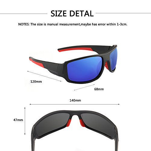 Men's Cycling Outdoor Sports Polarized Sunglasses 100% UV protection Unbreakable TR90 Frame Glasses by JIANGTUN (Image #4)