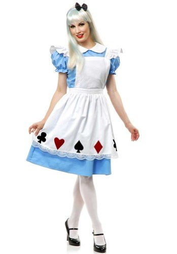 Charades Women's Story Book Alice Costume Set, Blue/White, X-Large ()
