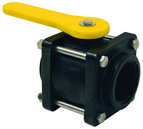 Dixon PVFPS200 Poly Compact Bolted Ball Valve, FNPT, Full Port, 4-7/8