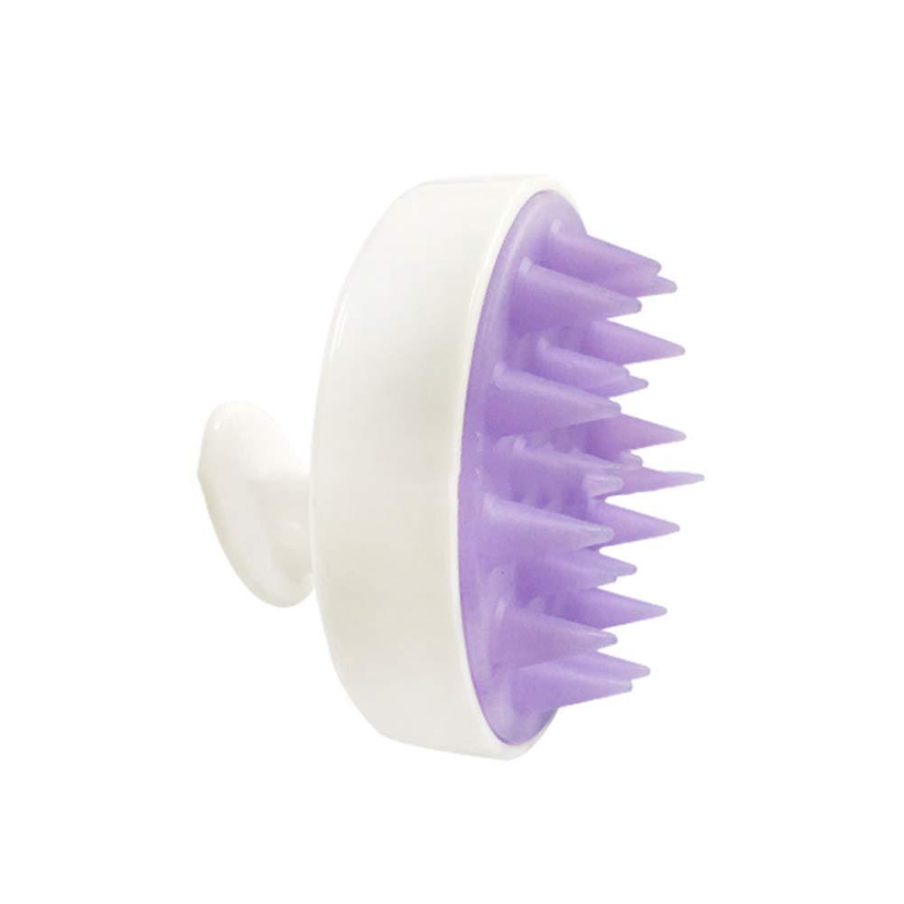 DDG EDMMS Exclusivo Masaje Cepillo de Pelo del Cuero cabelludo Cuero cabelludo masajeador Cepillo champú Cepillo de Cuidado del Cuero cabelludo Azul 8 * 8 * 7 CM (Blanco)