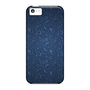 linJUN FENGNew Arrival iphone 6 4.7 inch Case Blue Floral Pattern Case Cover