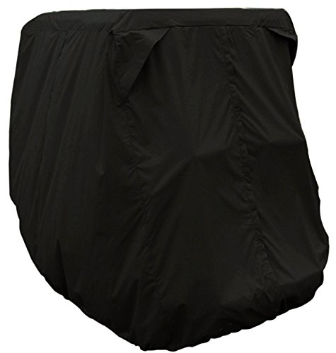 NKTM Waterproof Dust Prevention Golf Cart Cover 4 Passenger EZ Go Club Car Yamaha Golf Carts Black by NKTM