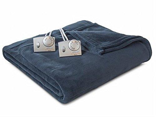 blue heated micro plush electric