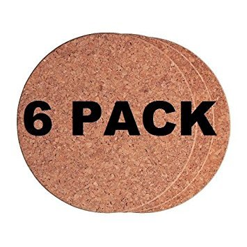 "Ikea Cork Trivet Heat 7""(Pack of 6)"