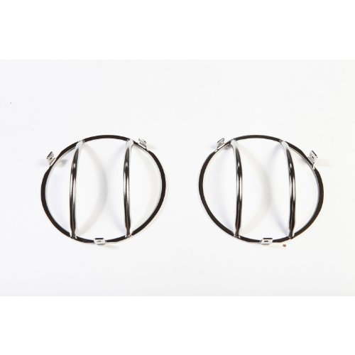 Rugged Ridge 11142.01 Stainless Front Euro Head Light Guard – Pair
