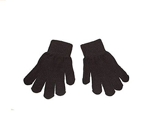 Little Boys and Girls Winter Knitted Magic Gloves Infant Toddler Baby Mittens (Black) Isuper