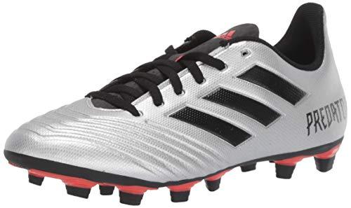adidas Men's Predator 19.4 Firm Ground Soccer Shoe, Silver Metallic/Black/hi-res red, 10.5 M US (Adidas Shoes Of Soccer)
