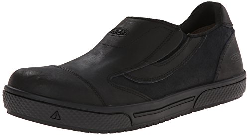 KEEN Utility Men's Destin Slip-On PTC Work Shoe, Black, 10 D