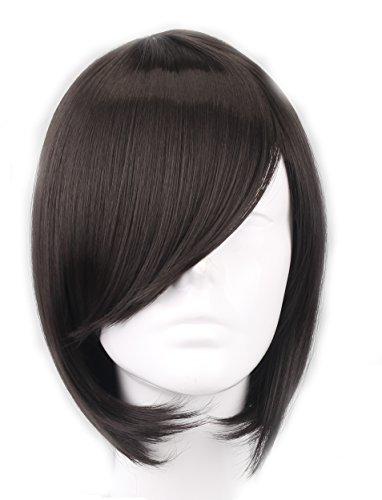 SIMUSTY SYNTHETIC Short Bob Natural Black Women Wig -