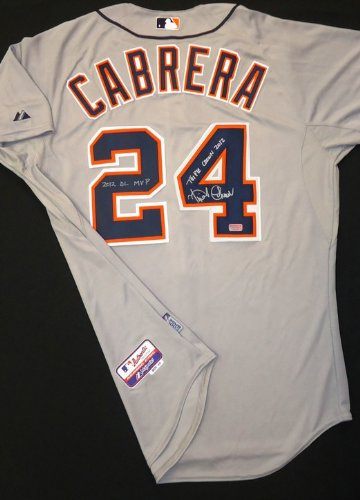 Miguel-Cabrera-Autographed-Detroit-Tigers-Road-Authentic-Cool-Base-Jersey-Triple-Crown-2012-and-2012-AL-MVP-Inscriptions