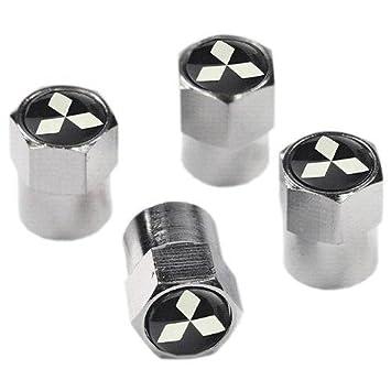 Protrex UK Tapones embellecedores de Metal Cromado para válvulas de neumáticos de Mitsubishi: Amazon.es: Coche y moto