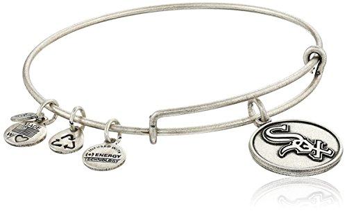 - Alex and Ani Chicago White Sox Cap Logo Expandable Rafaelian Silver Bangle Bracelet