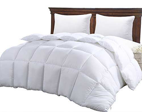 Hypoallergenic Quilted Comforter, Reversible Duvet Insert, Twin, White