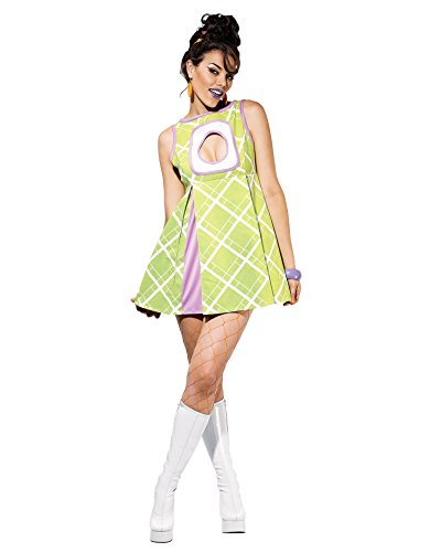 [Sexy Theatre Costumes 60s Mod Mini Dress Green Appletini Hippie Costume Sizes: Large] (Beatnik Costumes Ideas)
