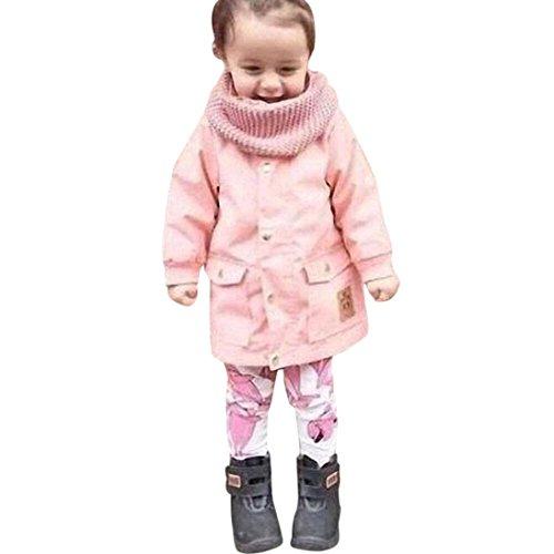 [Keepfit Baby Girl Boy Autumn Winter Newest Hooded Warm Coat Kids Outwear Jacket (3T, Pink)] (Good Group Halloween Ideas)