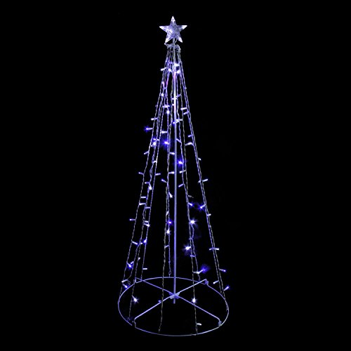 Sienna Blue and White LED Lighted Outdoor Twinkling Christmas Tree Yard Art  Decoration, 5' - Amazon.com: Sienna Blue And White LED Lighted Outdoor Twinkling