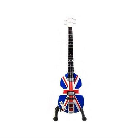 Réplica de guitarra en miniatura, regalo de madera para amantes de la música, 10