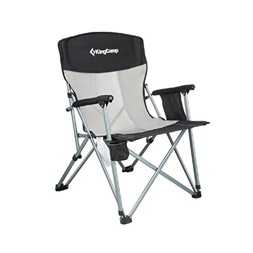 KingCamp Folding Chair Mesh Back with Cup Holder Armrest Poc
